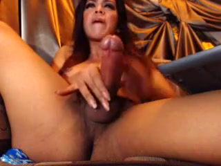 Crazy Homemade Shemale record with Big Dick, Latin scenes
