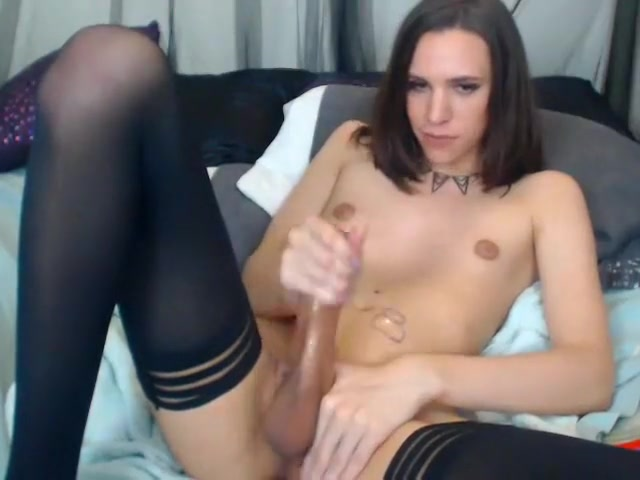 Fabulous Homemade Shemale movie with Stockings, Small Tits scenes
