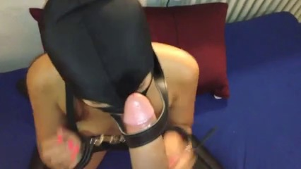 My devot asian toy loves cum and spit in her face