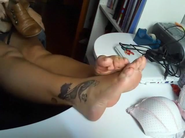 amazing homemade recording with foot fetish scenes