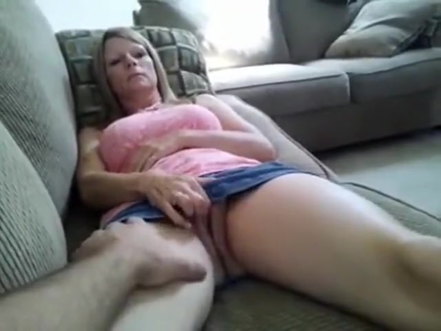 blonde plays with herself before getting plowed