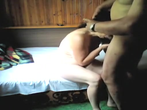 Sex by fat mature interracial couple