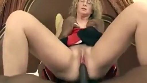 blonde mature milf enjoying big black cock sucking and fucking with horny black guy