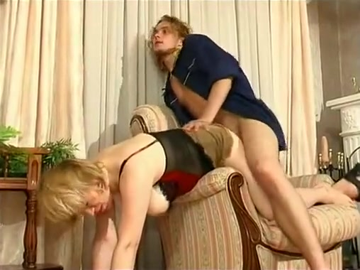 chubby blonde milf sucking and riding hard cock of horny guy