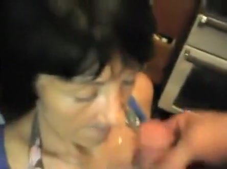 granny cock loving loves sucking hard cock and gets mouth filled with fresh cum