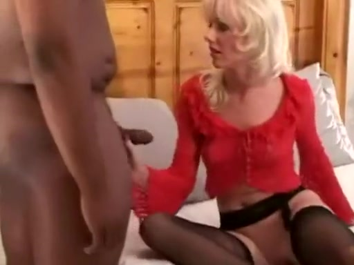 sexy blonde with a horny black guy suck and fuck her big black dick