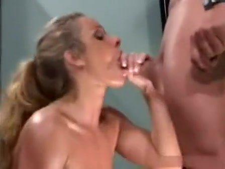 hot blonde with big tits suck hard cock greedily and madly