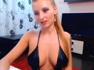 busty blonde teases on webcam with her big hot boobs