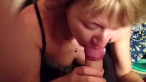sucking blonde milf cock sucks hard cock with gluttony at home
