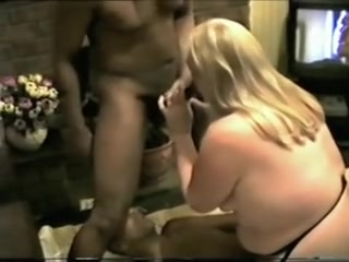 Whore Woman With 2 Black Guys