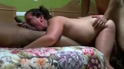 sexy chubby brunette slut suck and fuck with two black dudes and enjoy