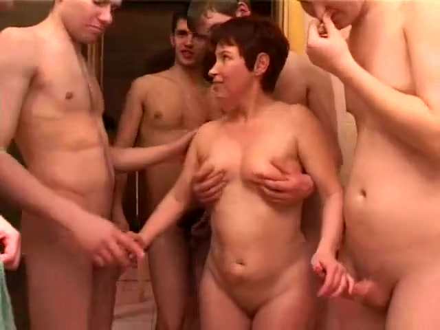 Incredible Amateur Clip With Gangbang, Young / Old Scenes