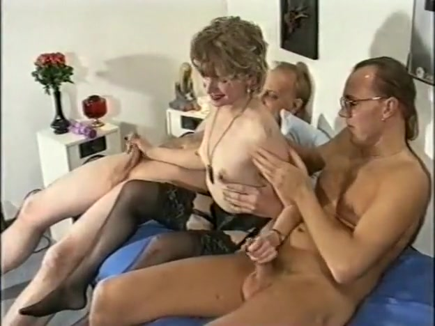 Great Homemade Film With Stockings, Threesome Scenes