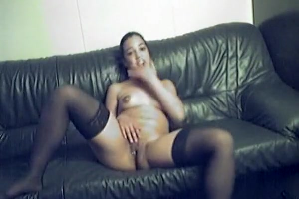 horny amateur clip with masturbation, scenes from stockings