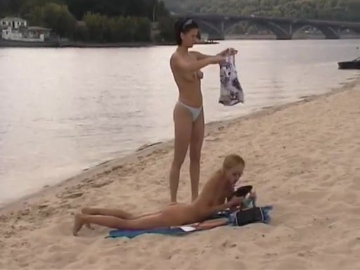 Russian Nudism Episode 2 Sexy Beauties Playing Exposed On Beach