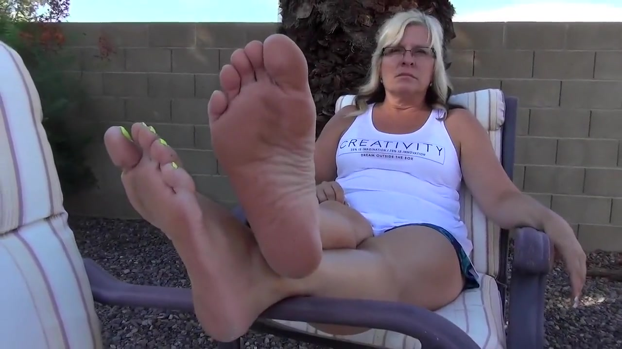 Amazing Amateur Milf, Foot Fetish Porn Scene