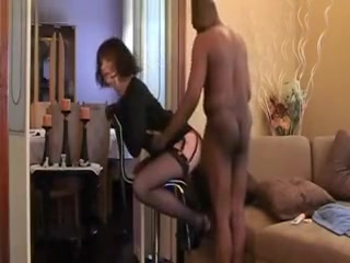 Horny Amateur Doggystyle, Stockings Porn Scene