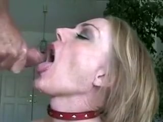 Pretty Blonde Granny Make A Blowjob