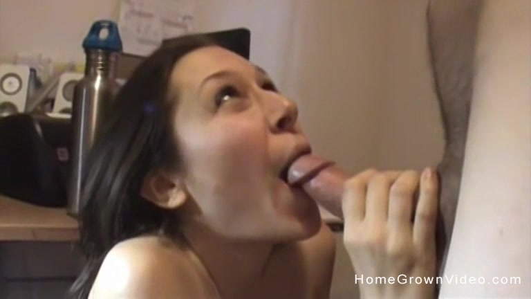 Sasha Sucks Her Mans Cock Like A Champion Who Makes It Explode