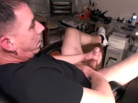 Nice gay is playing in the guest room and filming himself on web cam