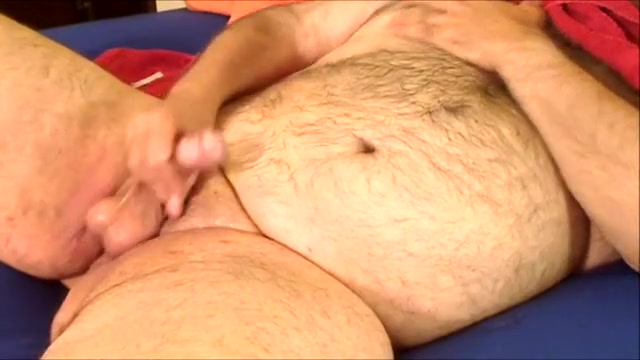 Fat bear jerkoff with Aneros