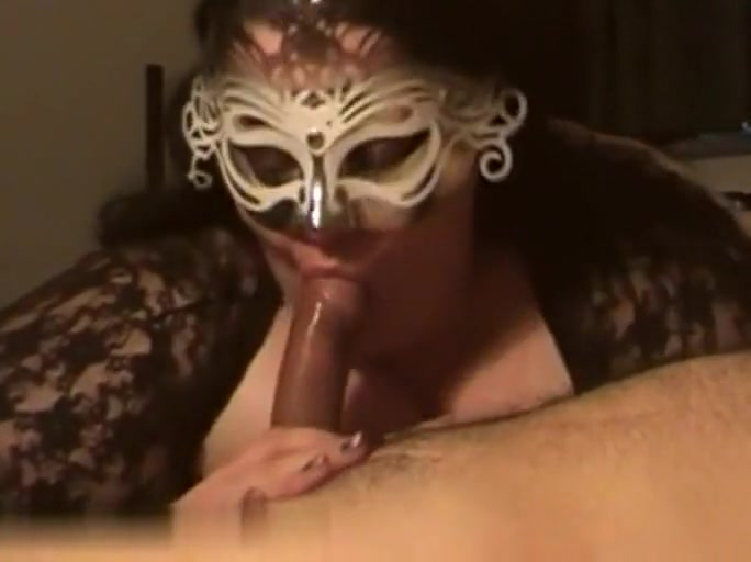 pretty brunette woman chubby masked milf sucking dick with a lustful passion, fucking!