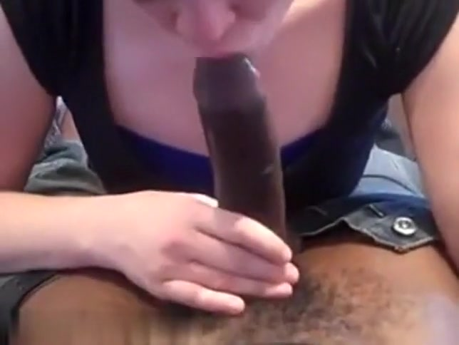 so sexy blonde girlfriend painted milf sucks her black guy dick like a candy