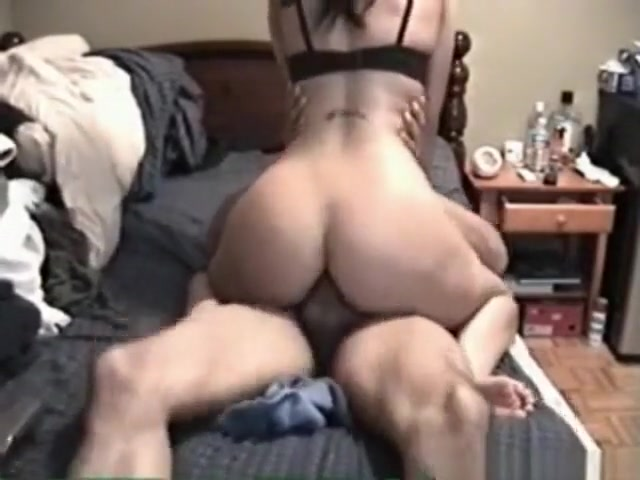 hot brunette with awesome body sucks and rides her bf with cumshot ass