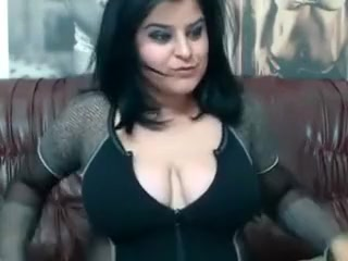 raven haired girl with huge melons loves to play with her dildos