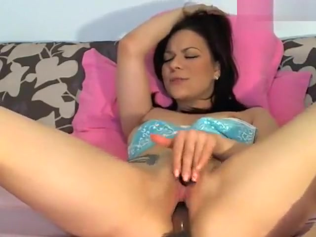 brunette everbestass fucks herself with a silicone dildo