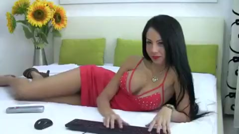 hot brunette ashleywels playing with banana and stroking vagina